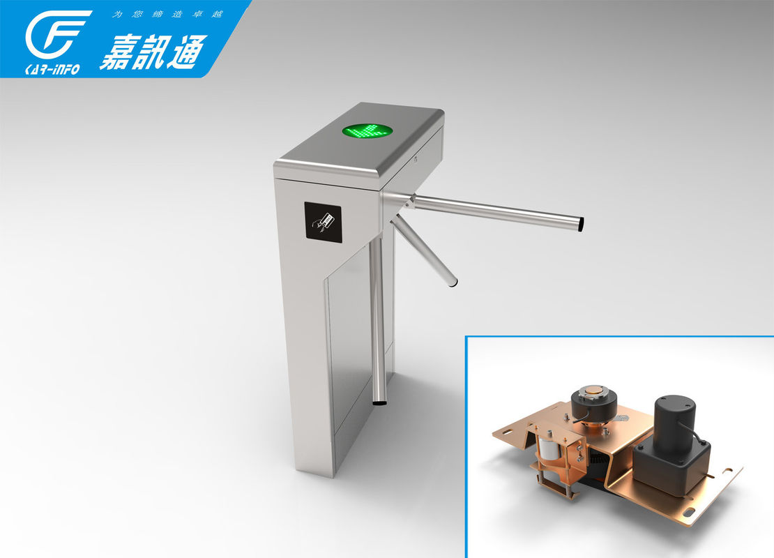 Optional Single Direction Vertical Tripod Turnstile 40person / Min For Factory Staff Exit